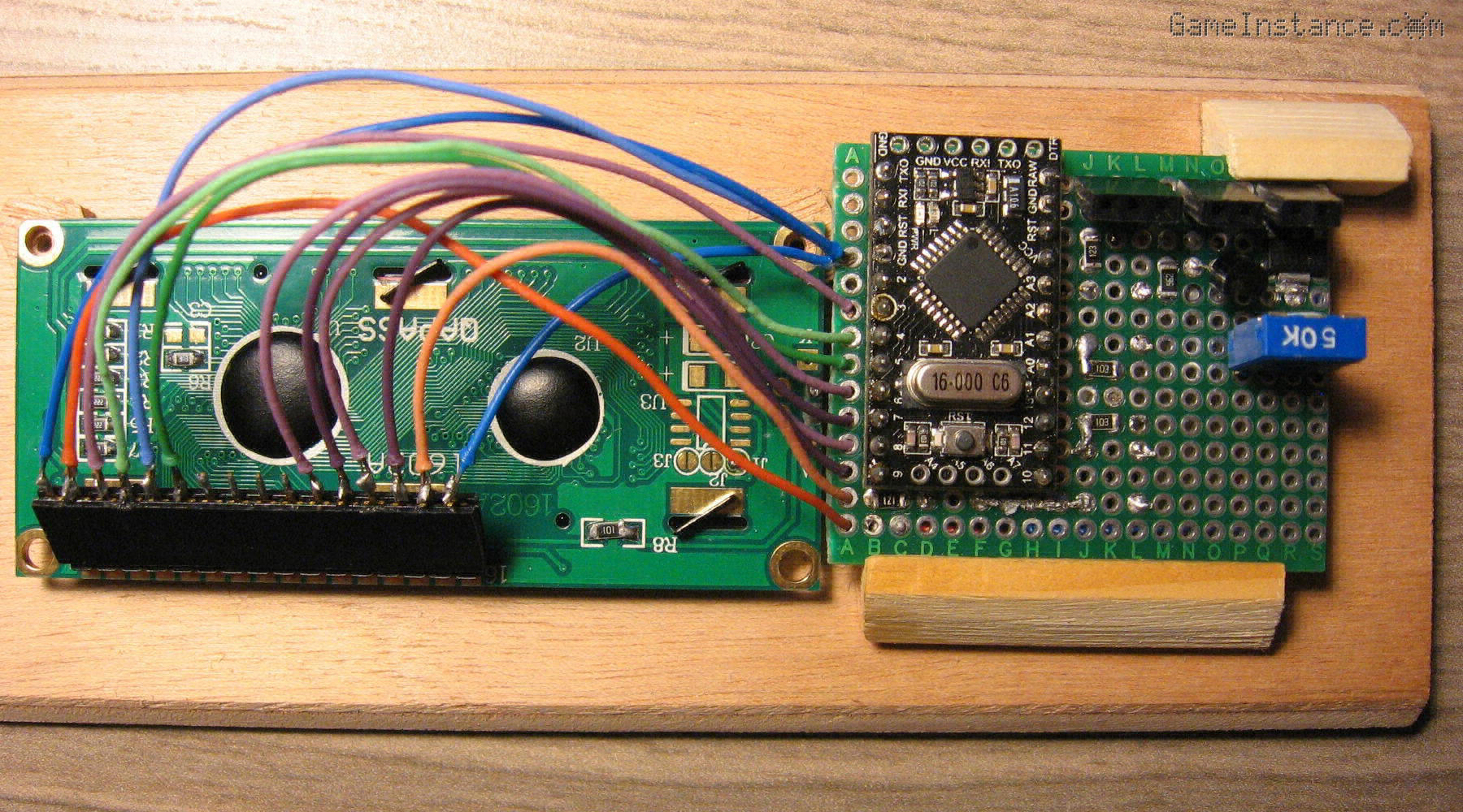 UV-Box 400 - Back side of the front panel. The PCB and LCD in place.