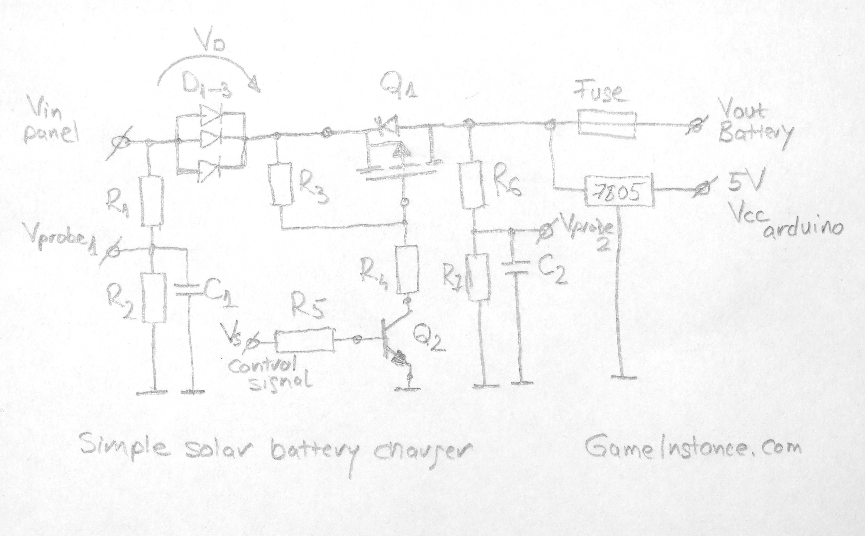 Simple Solar Battery Charger A 3 Dollar Arduino Circuit Diagram Schematics